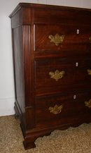 Solid Mahogany Chippendale Mule Chest