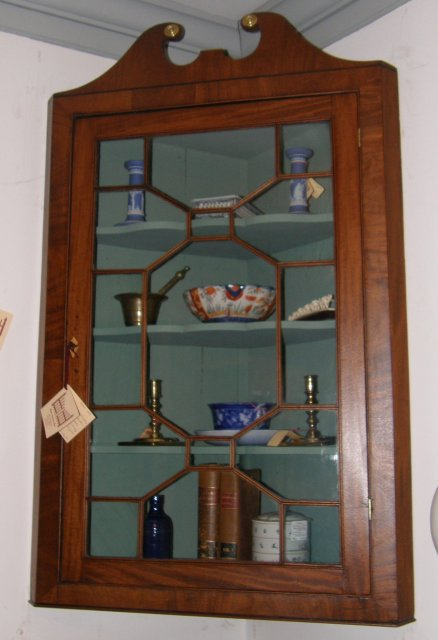 Mahogany Hanging Corner Cupboard