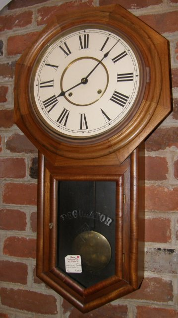 Walnut 8 Day Regulator Clock