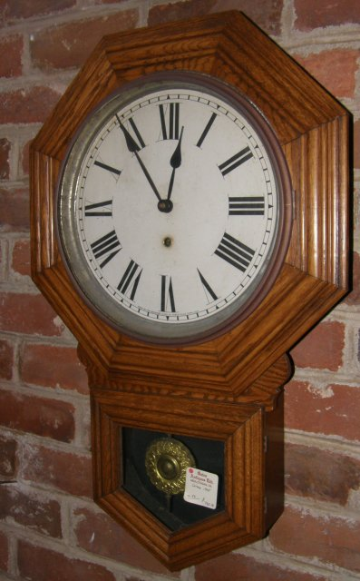 Short Drop Pendant Regulator Clock