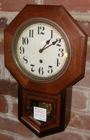 Mahogany School House Clock