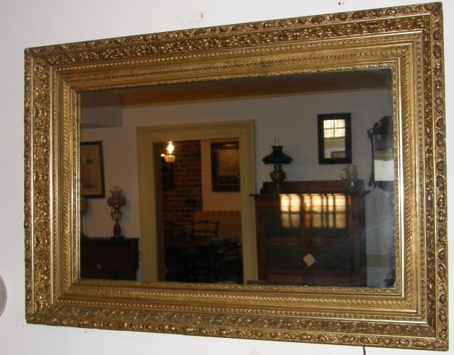 Gold Leaf Framed Mirror
