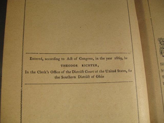 German Evangelical Songbook 1890 by Schafer