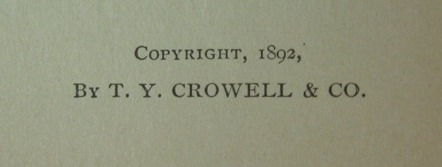 The Early Poems of James Russell Lowell, cp. 1892, HB