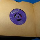 Lot of 16 45 RPM Records with Album (Nat King Cole, Patti Page, etc.)