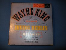 Wayne King Plays Irving Berlin 45 RPM Record Set in original case