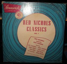 Red Nichols Classics Vol. 1 45 RPM Record Set in original case