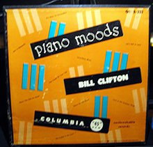 Bill Clifton Piano Moods 45 RPM Record Set in original case