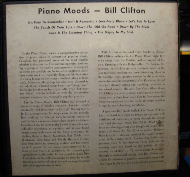 Bill Clifton Piano Moods 45 RPM Record Set in original case