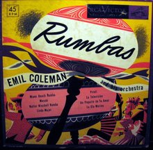 Emil Coleman Rumbas 45 RPM Record Set in original case