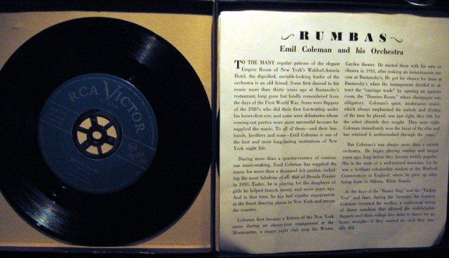 Emil Coleman Rumbas 45 RPM Record Set in original case