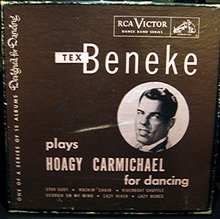 Tex Beneke plays Hoagy Carmichael for dancing 45 RPM Record Set in original Case