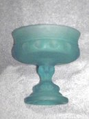 Thumbprint Blue Satin Compote