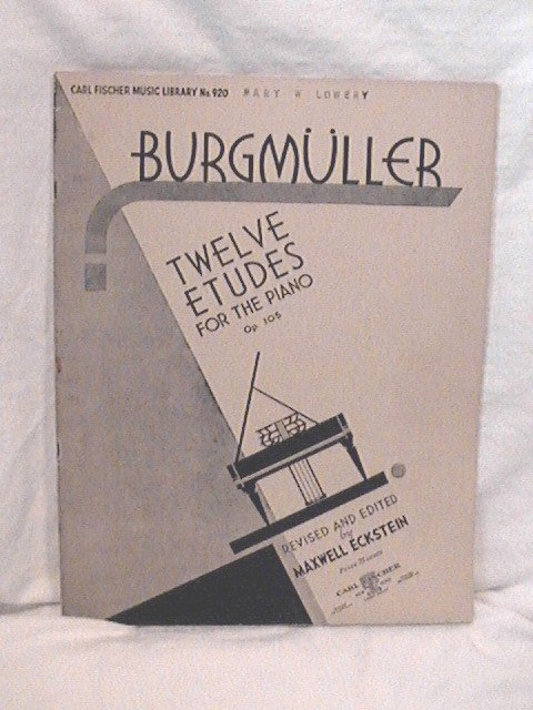 Burgmueller Piano Studies Twelve Etudes
