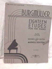 Burgmueller Piano Studies Eighteen  Etudes