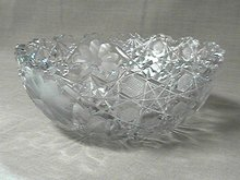 American Brilliant Cut Glass Bowl 8 inch