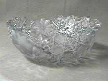 American Brilliant Cut Glass Bowl 8 inch