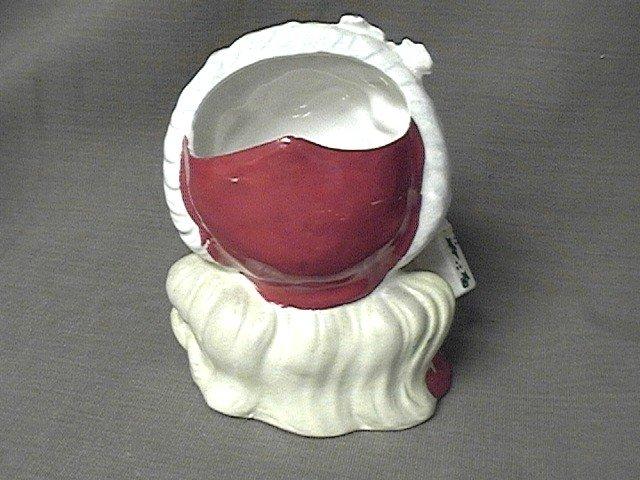 Napco Christmas Head Vase Young Girl