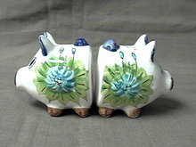 Pair of Pig head Salt and Pepper Shakers