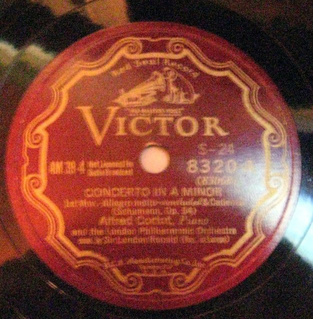 12-inch 78 RPM Record Concerto in A Minor by The London Philharmonic Orchestra