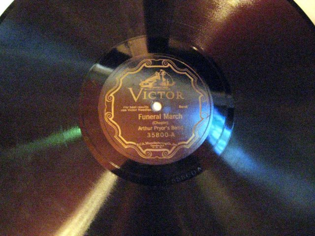 12-inch 78 RPM Record Funeral March by Arthur Pryor's Band