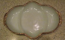 FireKing Dish (relish tray) Anniversary Pattern