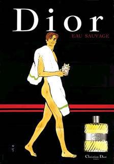Rene Gruau Dior poster original man/towel perfume