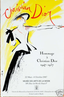 Hommage a Christian Dior poster by Rene Gruau original