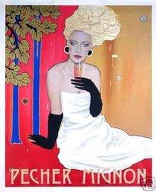 Champagne Pecher Mignon Poster by Razzia original
