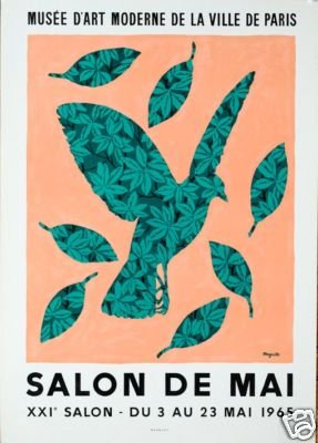 Magritte orig 1st printing Salon de Mai 1965 Mourlot