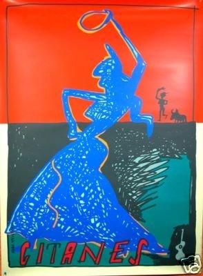 Maraschial Gitanes poster Serigraph original c1990's