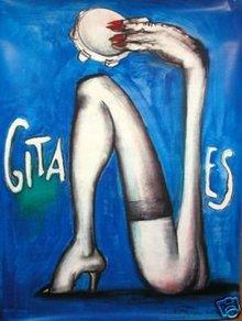 Andre Francois Gitanes poster Serigraph original c1990
