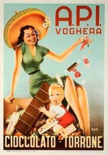API Voghera Cioccolato Mexicain Hat 1950s poster