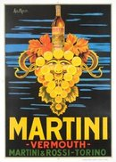 Martini Vermouth poster by Marco 1960's printing Italia