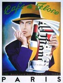 CAfe de Flore Paris by Razzia original mint