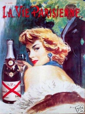 Champagne Castellane 1980 Irene Dunn reprint Castellane