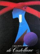 Champagne Castellane 1980 original authentic printing