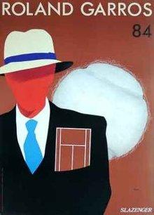 Roland Garros 1984 Poster by Razzia original mint
