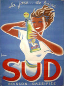 Boisson Sud by Bellenger 1950 on linen excellent