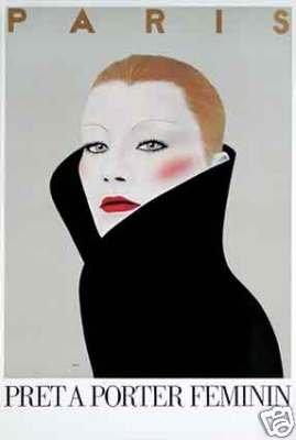Paris Pret a Porter Poster by Razzia original mint 1981