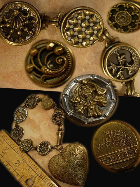 I cannot say Farewell button heart locket bracelet