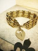Victorian Gate Bracelet sweetheart chastity padlock bracelet