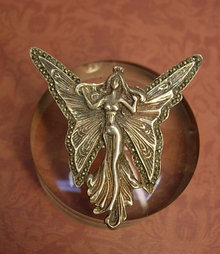Vintage Nouveau Brooch Fairy Brooch sterling marcasite Brooch Goddess brooch