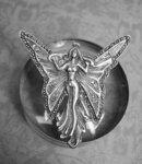 Vintage Nouveau Brooch Fairy Brooch sterling marcasite Brooch Goddess brooch