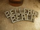 1920 art deco belleair beach rhinestone brooch HUGE paste rhinestones