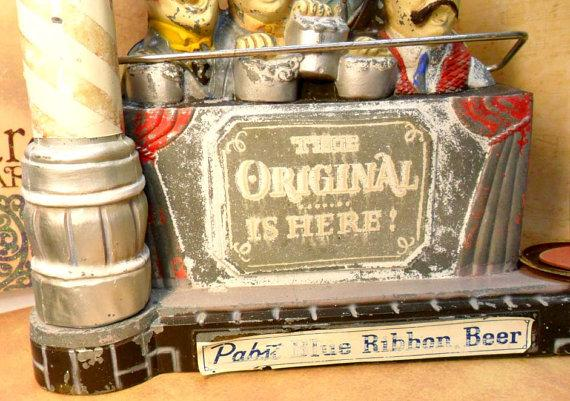 Pabst Blue Ribbon Barber Shop Quartet Display 1959