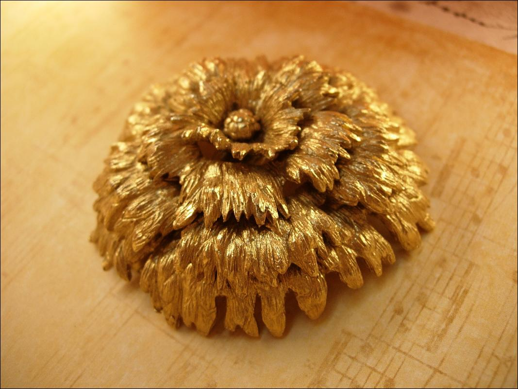 HUGE Vintage signed Monet cascading Flower brooch