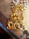 Vintage SIgned Vogue HUGE dragon necklace statement piece with festoon swags