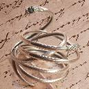 Antique sterling SNAKE bracelets Pair of 4 & 2 Coil Serpents and silver gypsy fortune teller