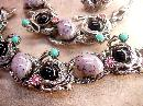 Vintage Dragons Egg Parure Selro Selini Necklace bracelet and earrings